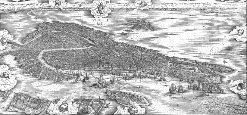 Jacopo de Barbari_Pianta Prospettica della città di Venezia